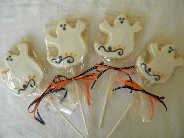 Halloween Ghost Cookie Pops